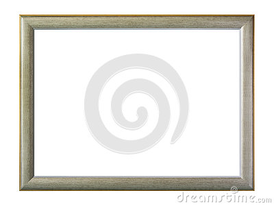 Gray frame isolated