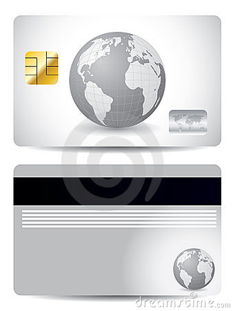 Gray globe credit card