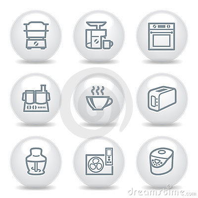 Gray icons set 17