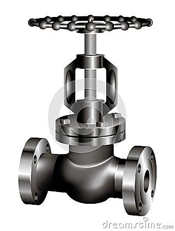 Gray industrial valve - vector