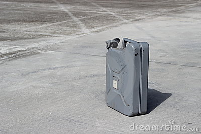 Gray jerrycan
