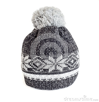 Free Gray Knitted Cap Royalty Free Stock Photo - 45983115