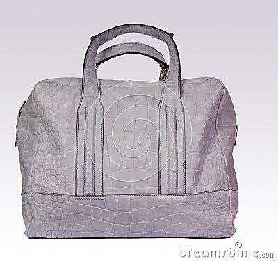 Gray leather woman bag