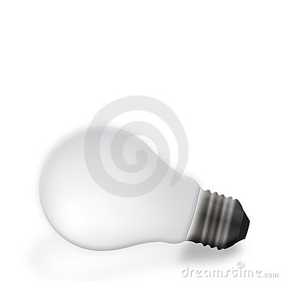 Gray light bulb