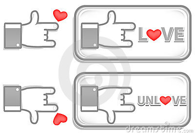 Gray love sign
