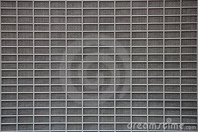 Gray metal grid