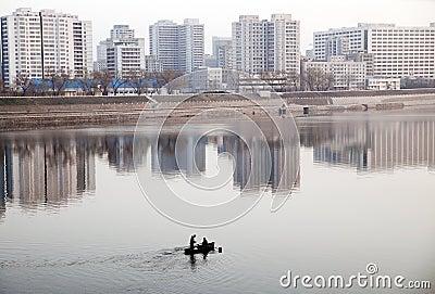 Gray Pyongyang Editorial Photo