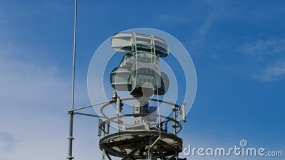 Gray radar system stock footage