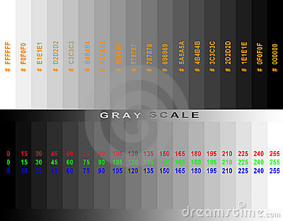 Gray scale grid