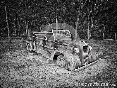 Gray Scale Photo Of Vintage Car Free Public Domain Cc0 Image