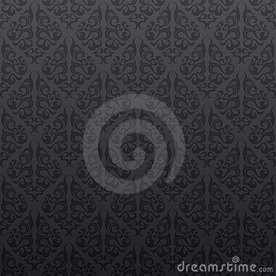 Gray seamless vine wallpaper