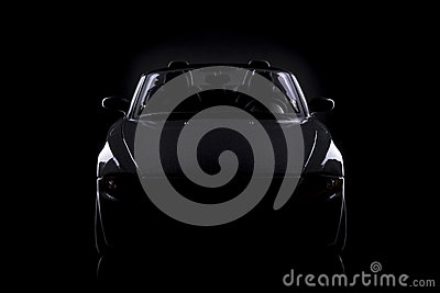Gray silhouette of car