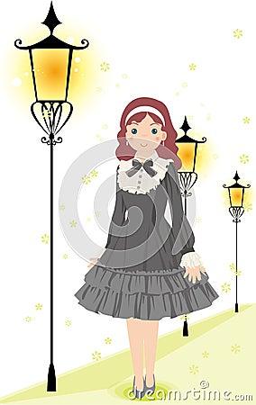 Gray skirt girl