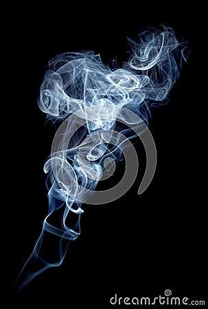 Gray smoke