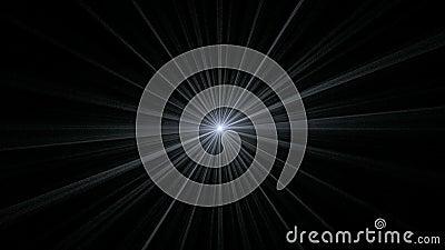 Gray Star Shining sur le noir illustration de vecteur