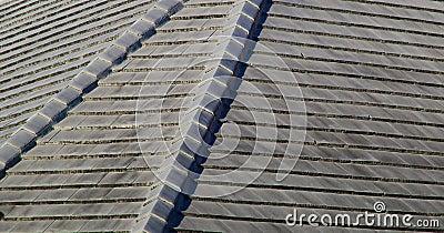 Gray stone roof tiles