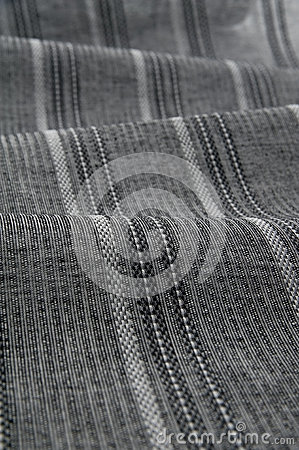 Gray stripe fabric