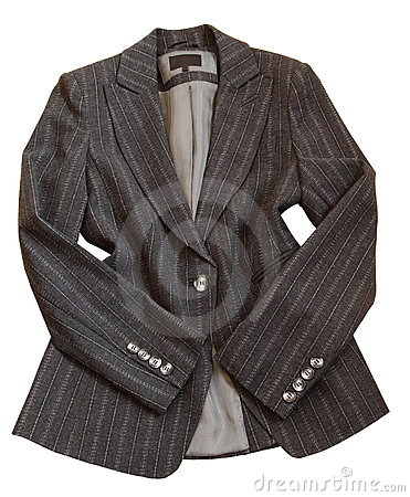 Gray suit jacket