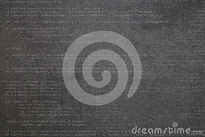 Gray textured background with code