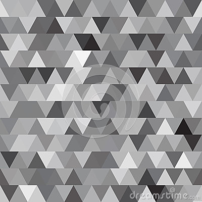 Free Gray Vector Seamless Pattern With Triangles. Abstract Background Royalty Free Stock Photo - 57871455