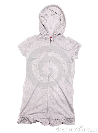 Gray vest with hood