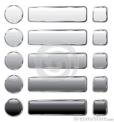 Gray web buttons long