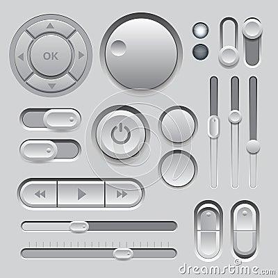 Free Gray Web UI Elements Design. Stock Photo - 30318130