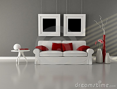 Google Image Result For Httpwwwdreamstimegraywhiteand Magnificent Gray And Red Living Room Interior Design Review