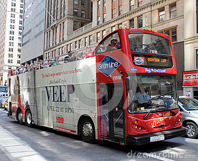 Grayline double decker red bus Editorial Photo