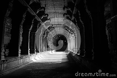 Grayscale Photo Of Hallway Free Public Domain Cc0 Image