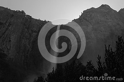 Grayscale Photography Of Waterfalls Free Public Domain Cc0 Image