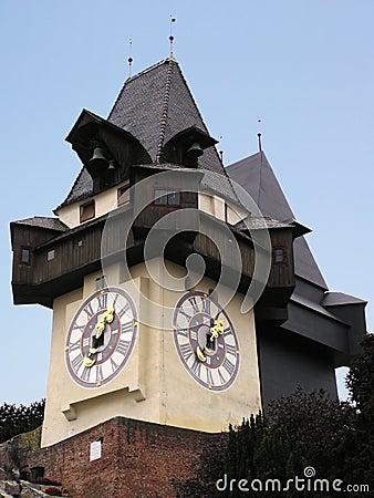 Free Graz Clock (Austria) Royalty Free Stock Photography - 16427