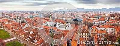 Graz town panorama