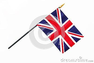 Great Britain British Flag on Pole