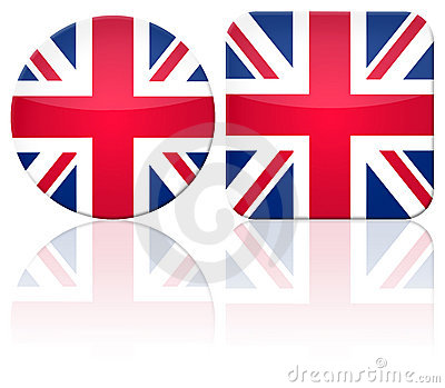 Great Britain button flag