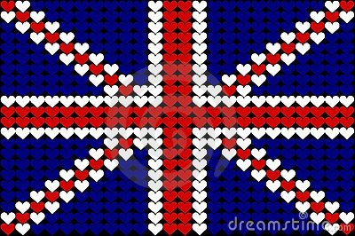 Great Britain heart flag