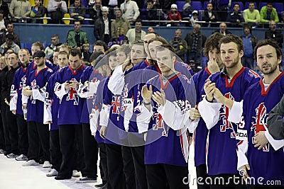 Great Britain ice-hockey team Editorial Photo