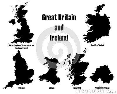 Great Britain + Ireland vectors