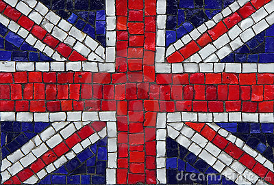 Great britain mosaic flag