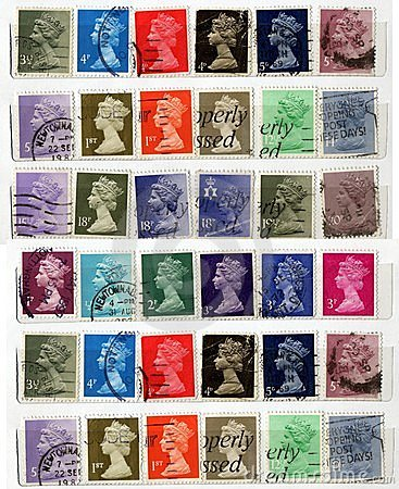 Great britain old stamps