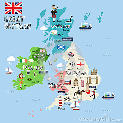 Free Great Britain Pictures Map Royalty Free Stock Image - 62546246