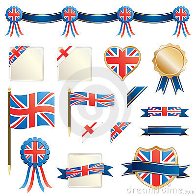 Great britain ribbons and seals