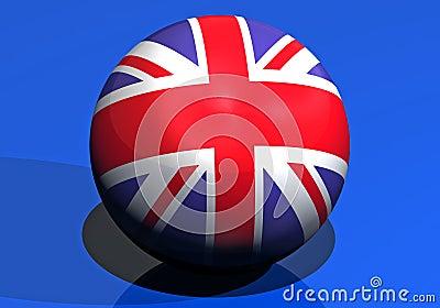Great britain round flag