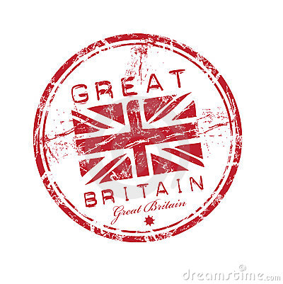 Great Britain rubber stamp