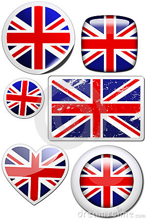 Great Britain - Set of stickers and buttons