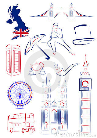 Great Britain sights and symbols