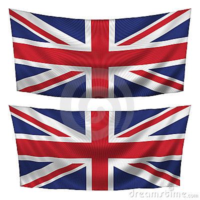 Great Britain textured horizontal flags