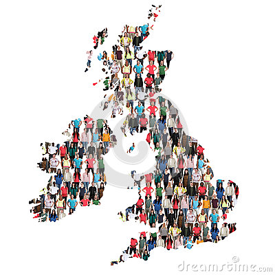 Free Great Britain UK Ireland Map Multicultural Group Of People Integ Royalty Free Stock Photo - 93921645