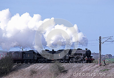 Great Britain VI steam railtour leaving Carnforth Editorial Stock Photo