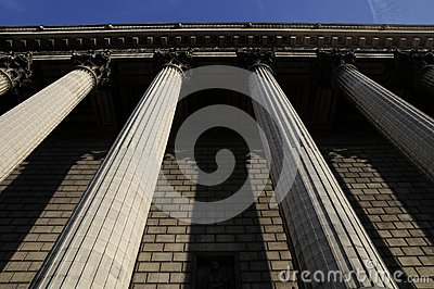 Great building with pillar